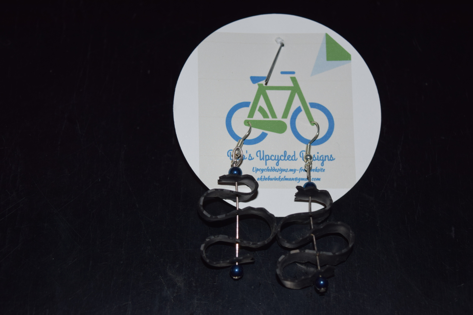 Bicycle Inner-tube earrings